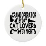 Crane Operator Cat Lover Christmas Ornaments