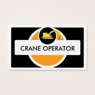 Crane Operator Construction Custom Business Cards