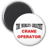 Crane operator fridge magnets