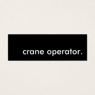 Crane Operator Mini Business Card