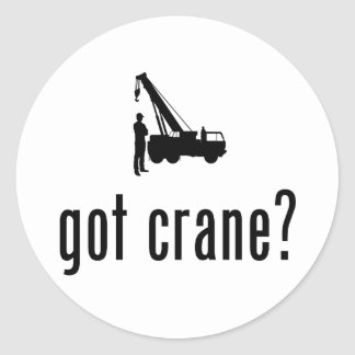 Crane Operator Round Sticker