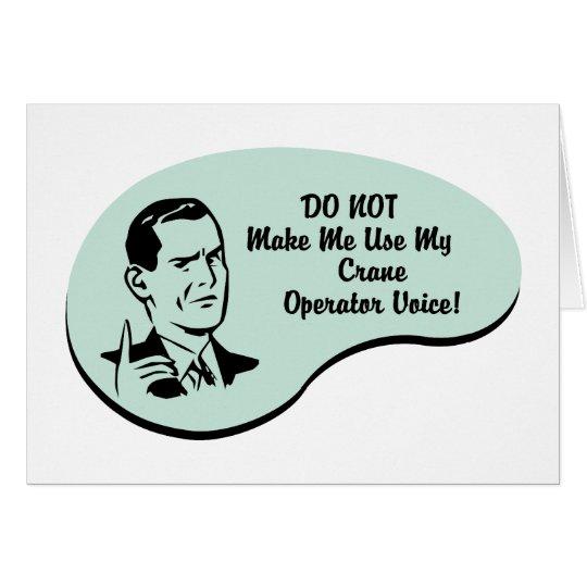 Crane Operator Voice Card