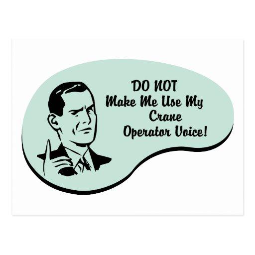 Crane Operator Voice Postcards