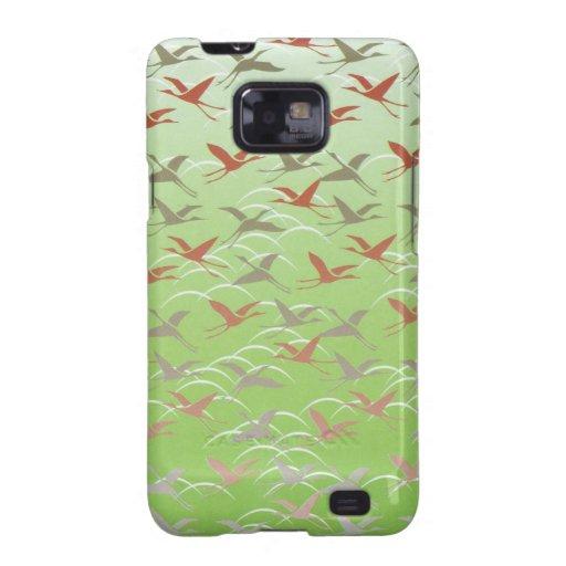 Crane Pattern Samsung Galaxy S Case