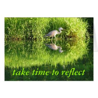 Crane Reflection Card