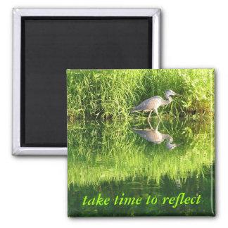 Crane Reflection Fridge Magnet