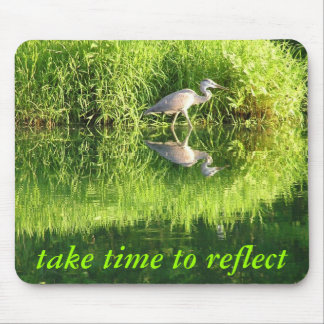 Crane Reflection Mouse Pad