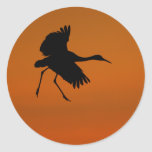 crane round stickers