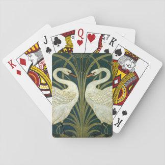 Crane's Art Nouveau Swans Playing Cards