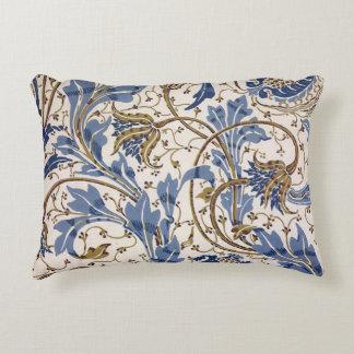Crane's Pomegranate and Teazle in Blue Decorative Pillow