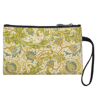 Crane's Pomegranate and Teazle in Green Wristlet Wallet