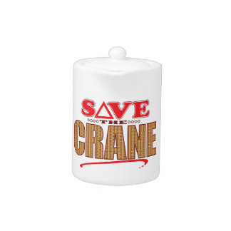 Crane Save Teapot