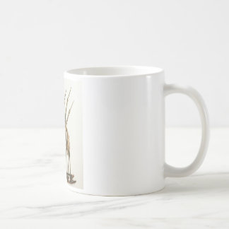 CRANE SCULPTURE COFFEE MUG