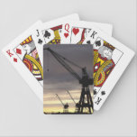 Crane siluhette playing cards