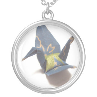 Crane Silver Plated Necklace