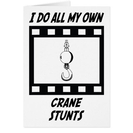 Crane Stunts Greeting Cards