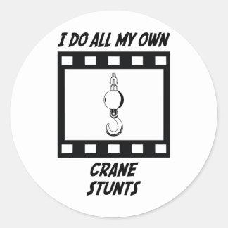 Crane Stunts Classic Round Sticker