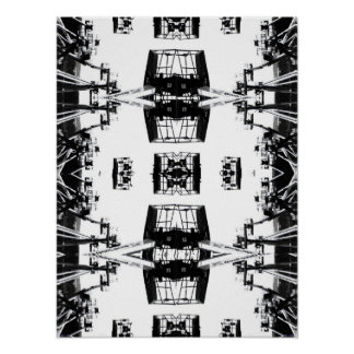 Crane Tessellation Poster