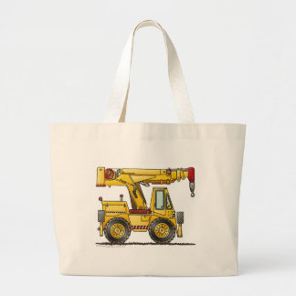 Crane Truck Construction Bags/Totes Large Tote Bag