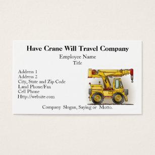 Slogan motto business cards templates zazzle crane truck construction business cards colourmoves Images