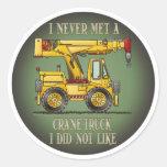 Crane Truck Operator Quote Kids Sticker