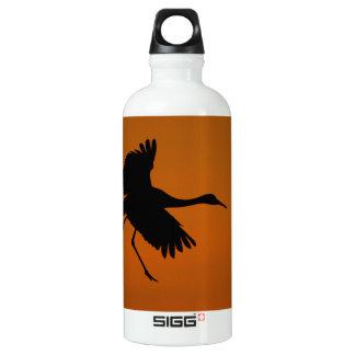 Crane Walking on Air Water Bottle