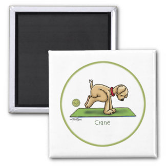 Crane - Yoga 2 Inch Square Magnet