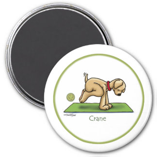 Crane - Yoga 3 Inch Round Magnet