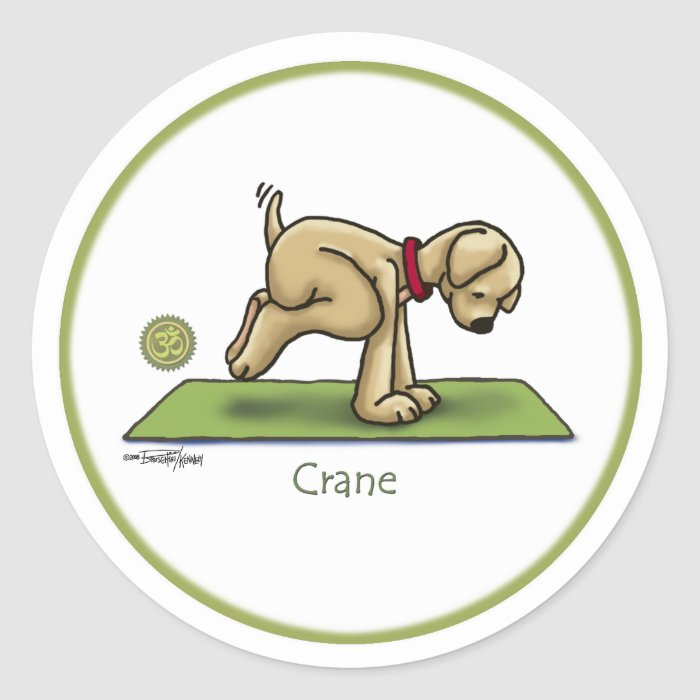 Crane - Yoga stickers
