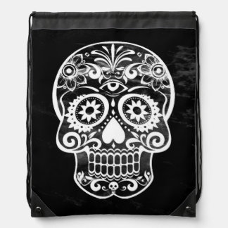 Cráneo 04 blancos y negros mochila