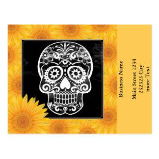 Cráneo, 04 blancos y negros tarjeta postal