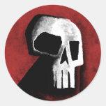 Cráneo 15-Red Etiqueta Redonda