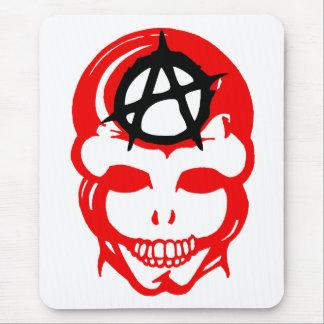 Cráneo 1 de la anarquía alfombrillas de ratón
