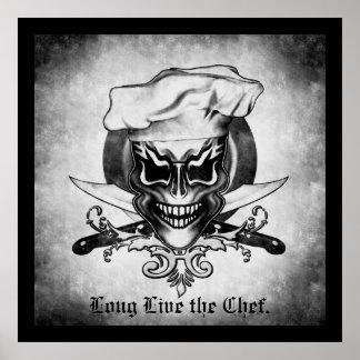 Cráneo 1 del cocinero póster