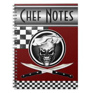 Cráneo 1 del cocinero spiral notebooks