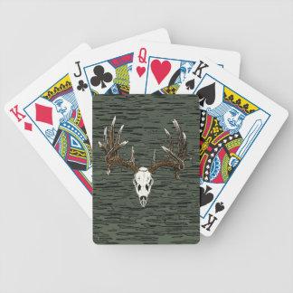Cráneo 1 del venado de cola blanca baraja cartas de poker