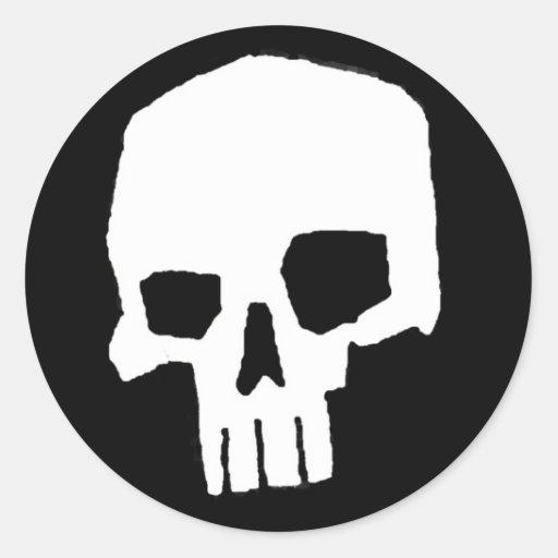 Cráneo 20 etiqueta redonda