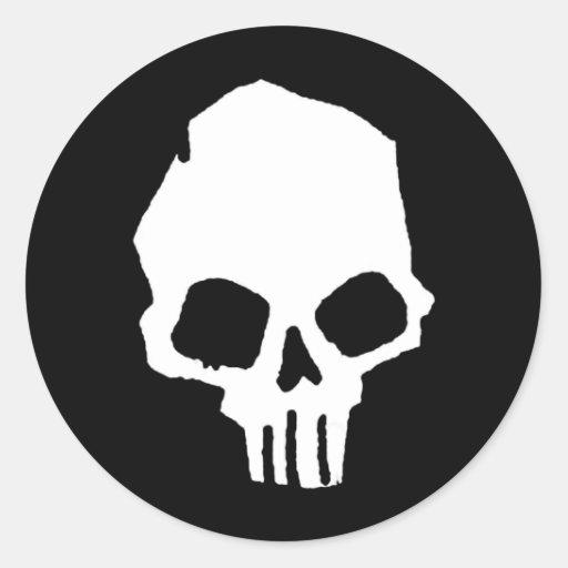 Cráneo 25 etiquetas redondas