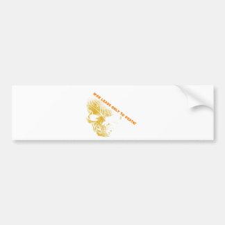 Cráneo 2 de la guerra pegatina de parachoque