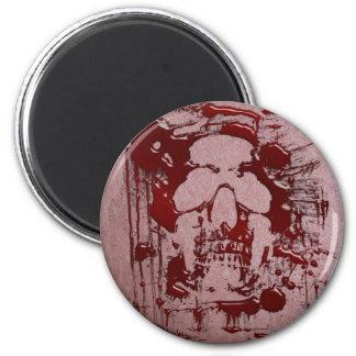 Cráneo #2 de la sangre imán redondo 5 cm