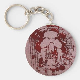 Cráneo #2 de la sangre llavero redondo tipo pin