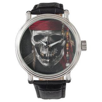 Cráneo 2 del pirata relojes de pulsera