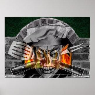Cráneo 3,1 del cocinero póster