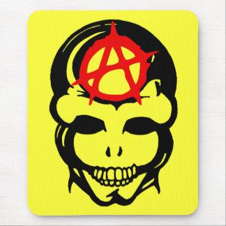 Cráneo 3 de la anarquía alfombrilla de ratón