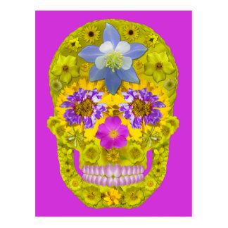 Cráneo 3 de la flor tarjeta postal