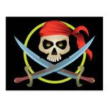 cráneo 3D y bandera pirata