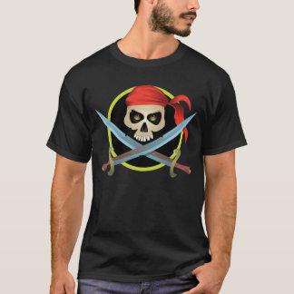 cráneo 3D y bandera pirata Playera