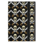 cráneo 3D y espadas cruzadas iPad Mini Carcasas