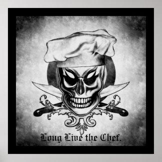 Cráneo 4 del cocinero póster