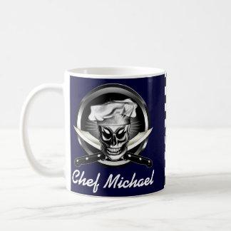 Cráneo 4 del cocinero taza de café